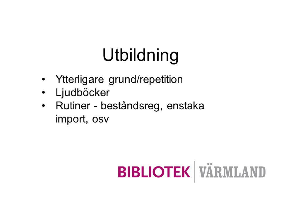 Utbildning Ytterligare grund/repetition Ljudböcker