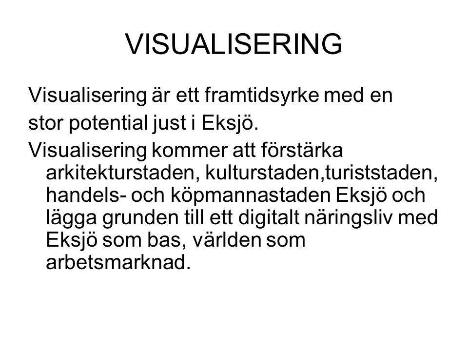 VISUALISERING Visualisering är ett framtidsyrke med en