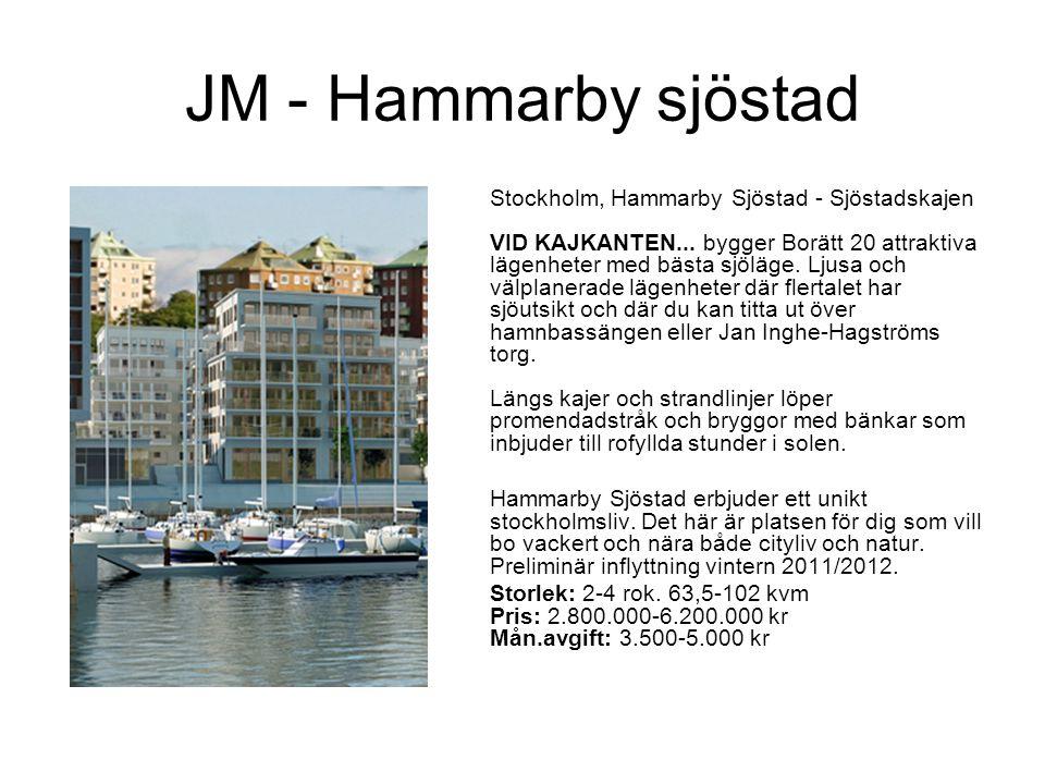 JM - Hammarby sjöstad