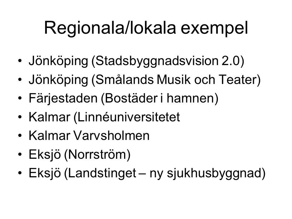 Regionala/lokala exempel