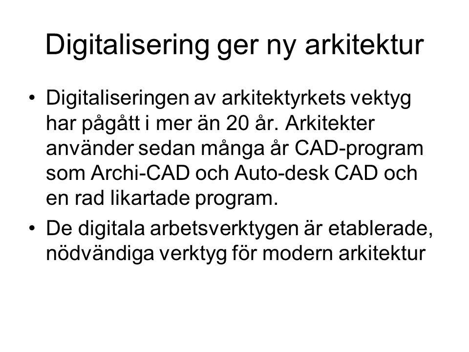 Digitalisering ger ny arkitektur