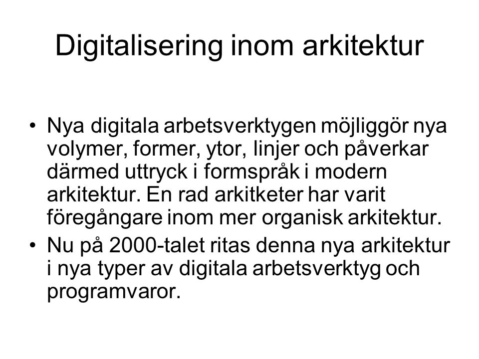 Digitalisering inom arkitektur