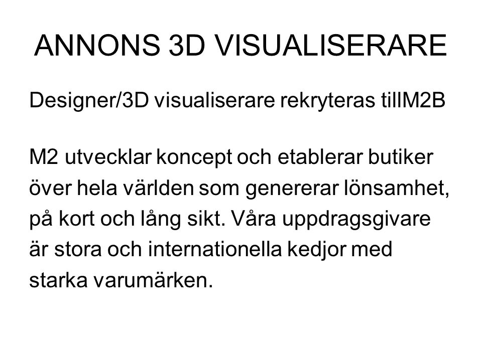 ANNONS 3D VISUALISERARE