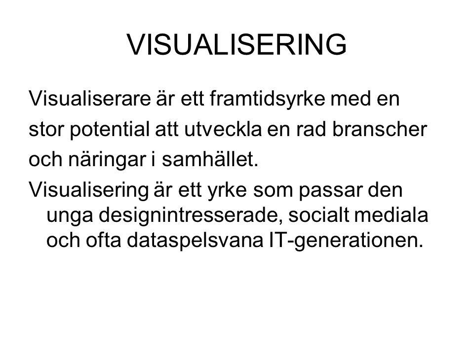 VISUALISERING Visualiserare är ett framtidsyrke med en