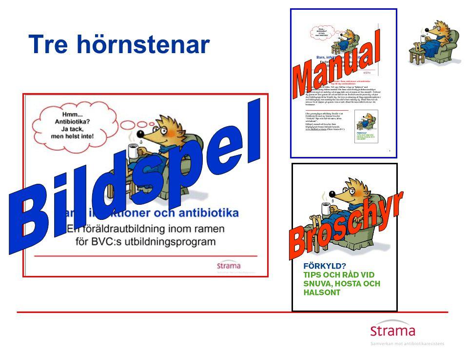 Tre hörnstenar Manual Bildspel Broschyr
