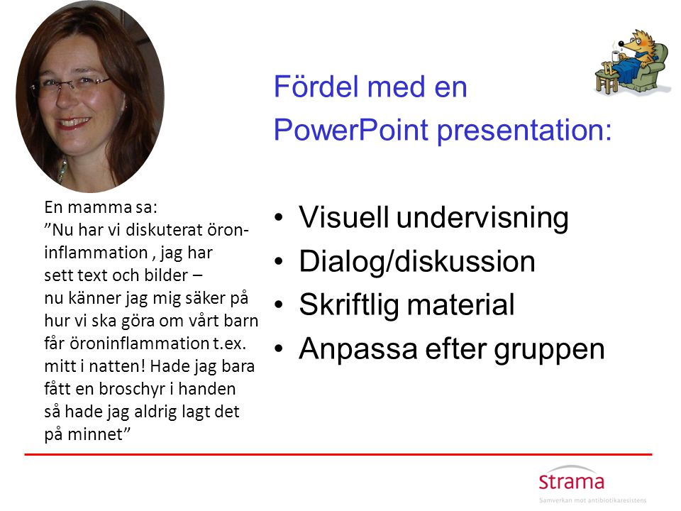 PowerPoint presentation: Visuell undervisning Dialog/diskussion