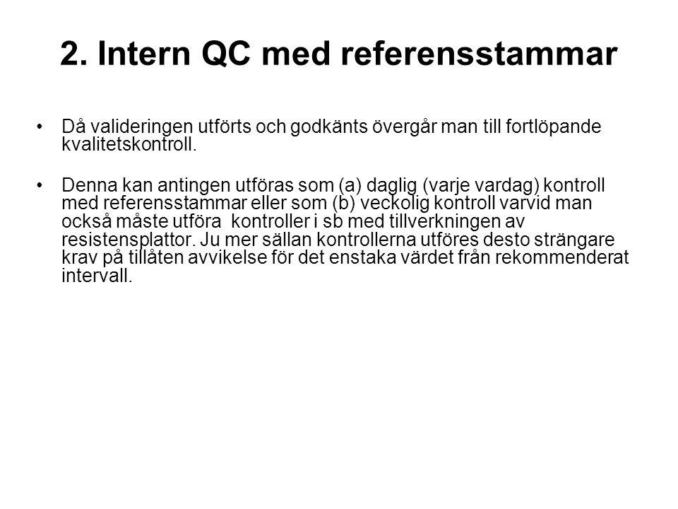2. Intern QC med referensstammar