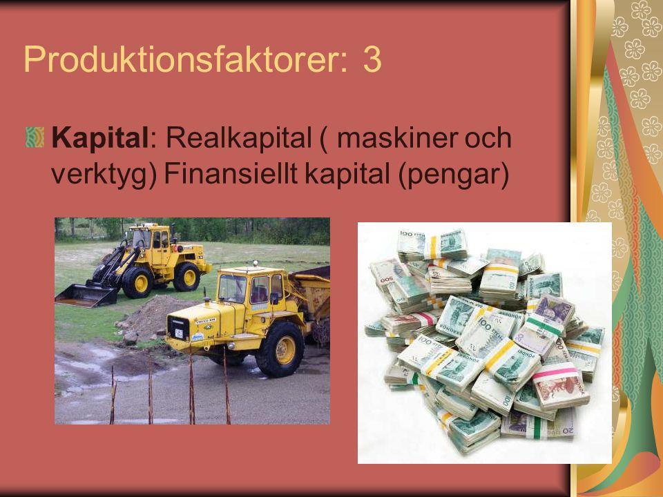 Produktionsfaktorer: 3