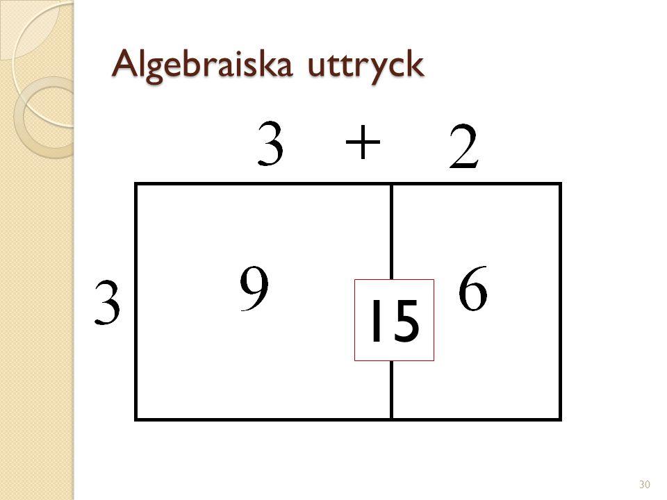 Algebraiska uttryck 15