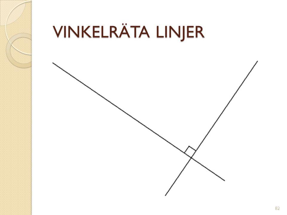 VINKELRÄTA LINJER