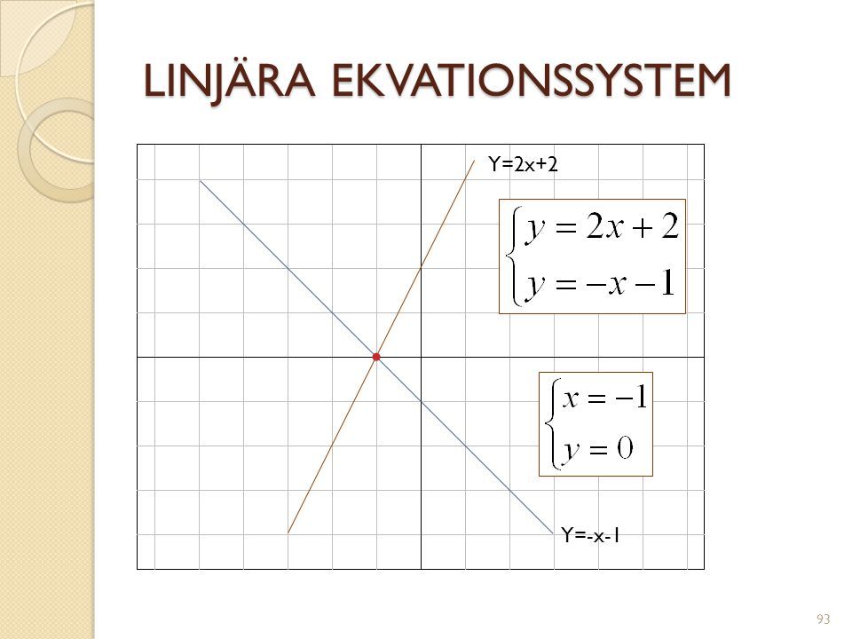 LINJÄRA EKVATIONSSYSTEM