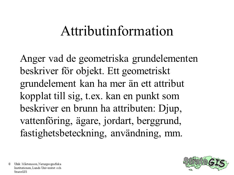 Attributinformation