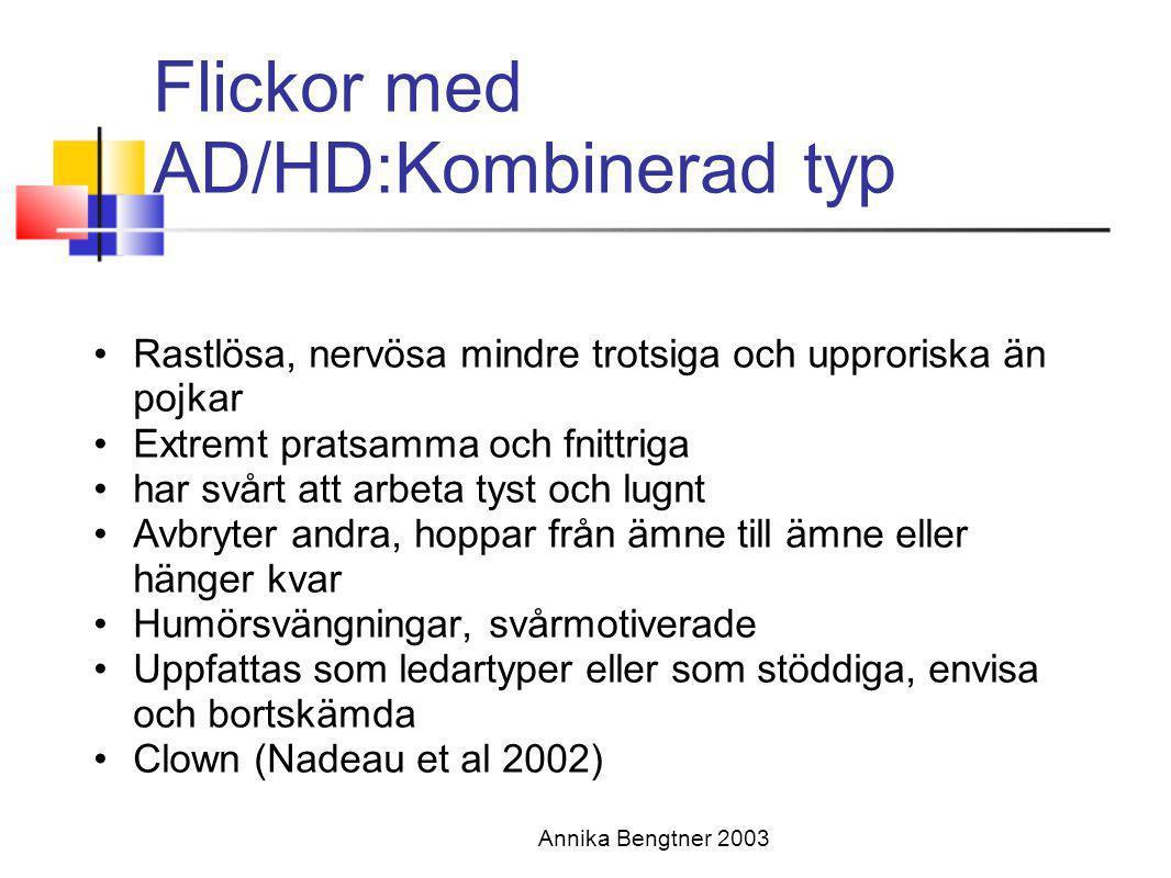 Flickor med AD/HD:Kombinerad typ