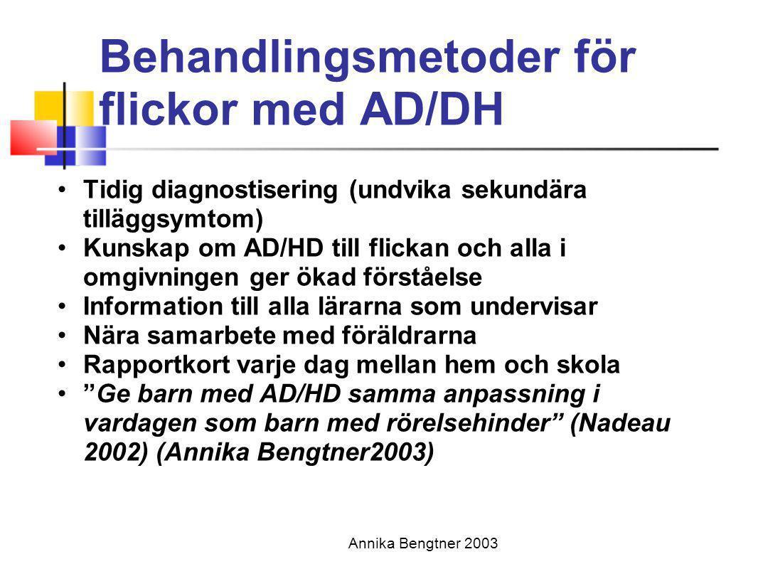Behandlingsmetoder för flickor med AD/DH