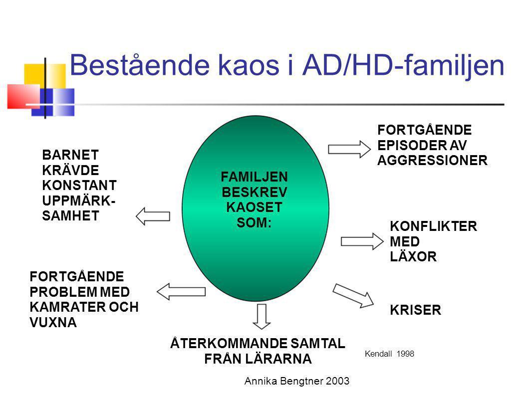 Bestående kaos i AD/HD-familjen