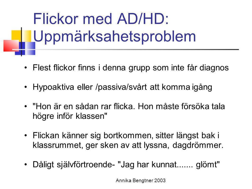 Flickor med AD/HD: Uppmärksahetsproblem