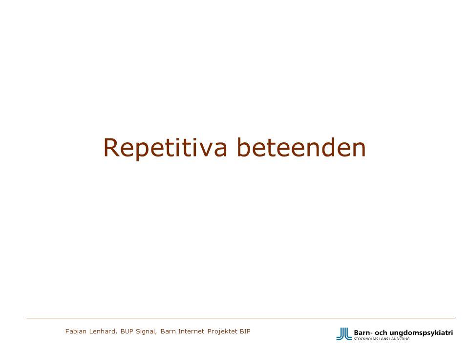 Repetitiva beteenden