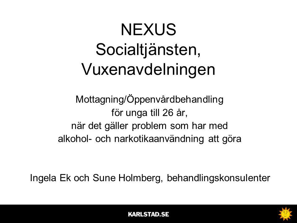 NEXUS Socialtjänsten, Vuxenavdelningen