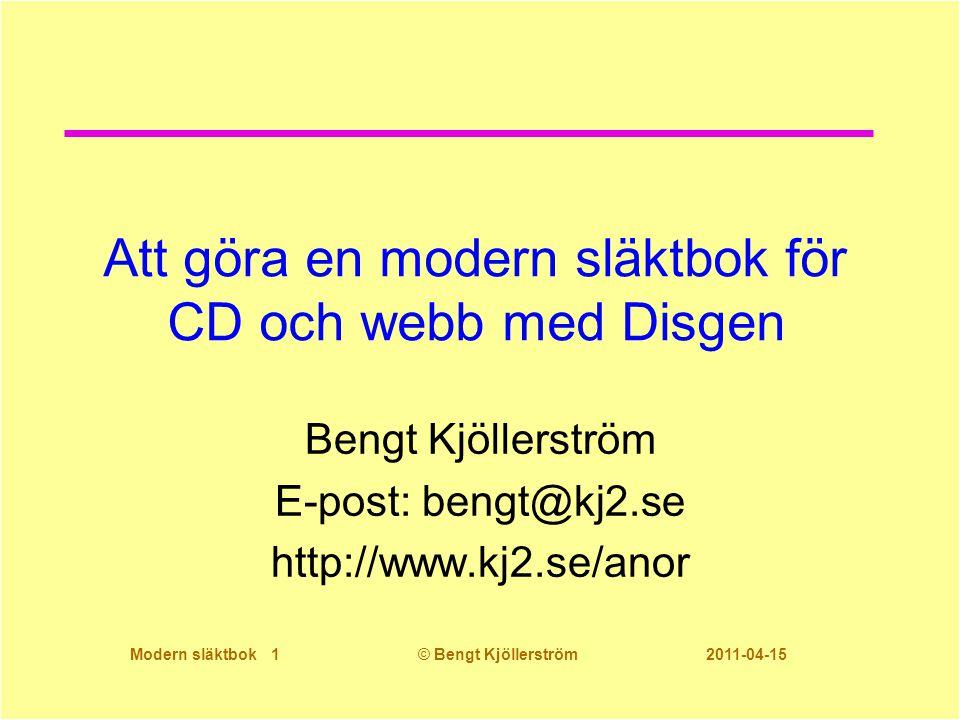 Att göra en modern släktbok för CD och webb med Disgen