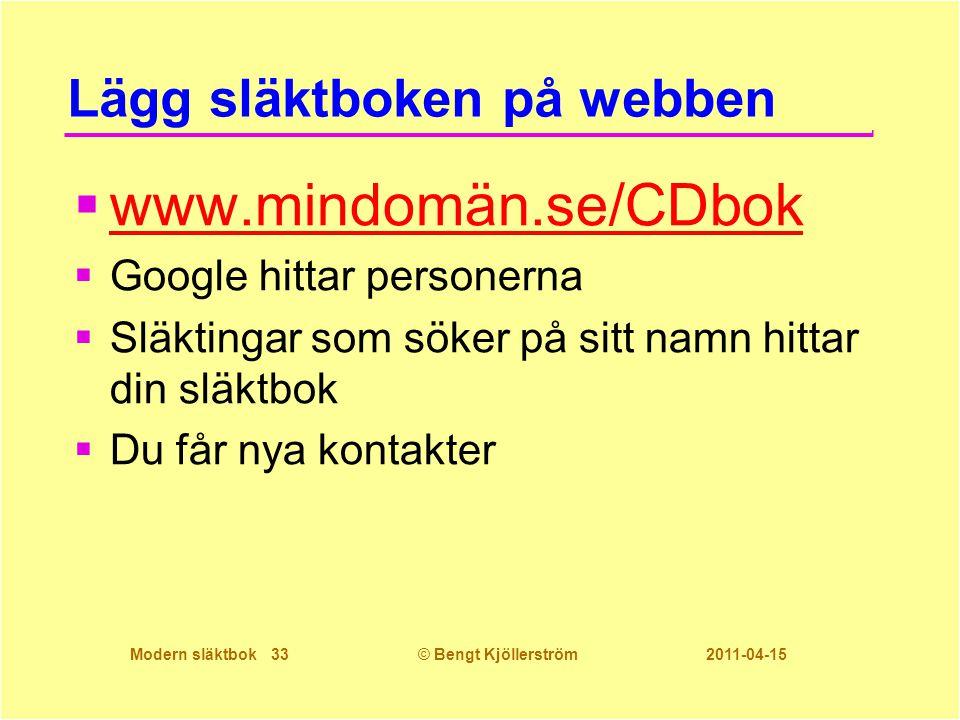 Lägg släktboken på webben