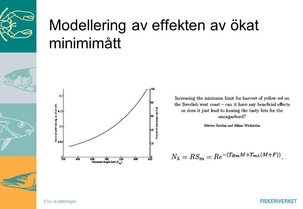 Modellering av effekten av ökat minimimått