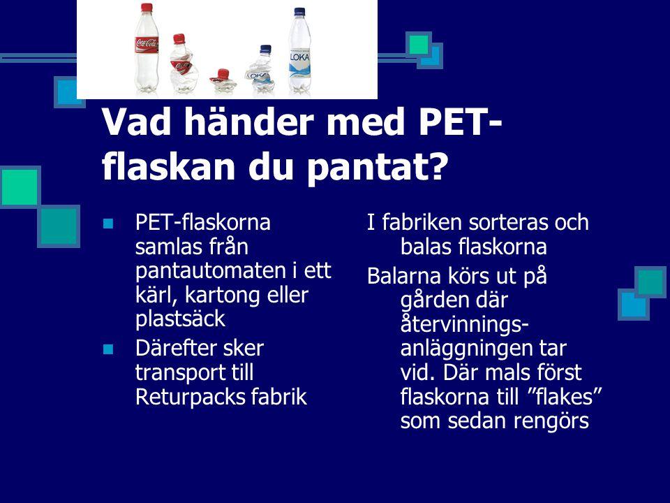 Vad händer med PET-flaskan du pantat
