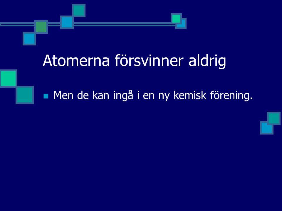 Atomerna försvinner aldrig