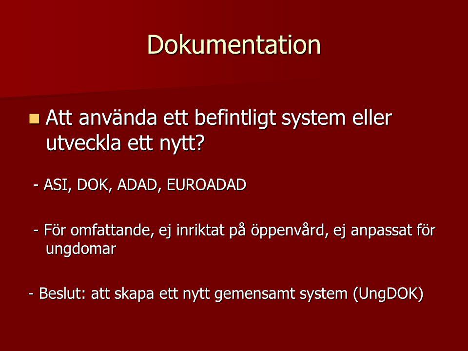 Dokumentation Att använda ett befintligt system eller utveckla ett nytt - ASI, DOK, ADAD, EUROADAD.