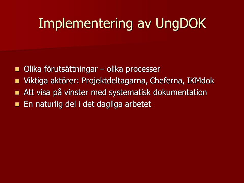 Implementering av UngDOK
