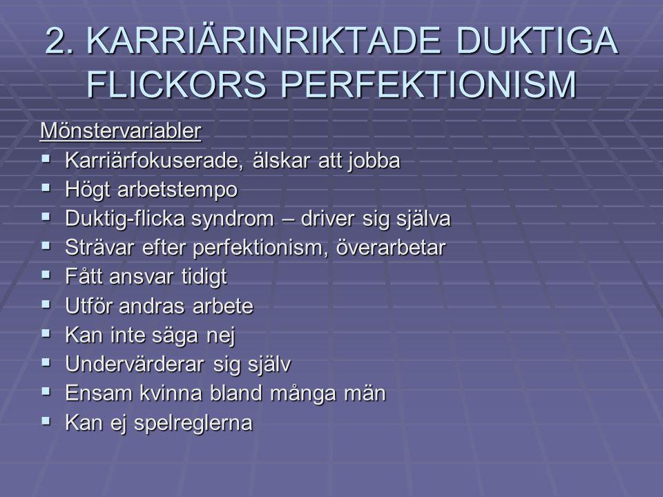 2. KARRIÄRINRIKTADE DUKTIGA FLICKORS PERFEKTIONISM