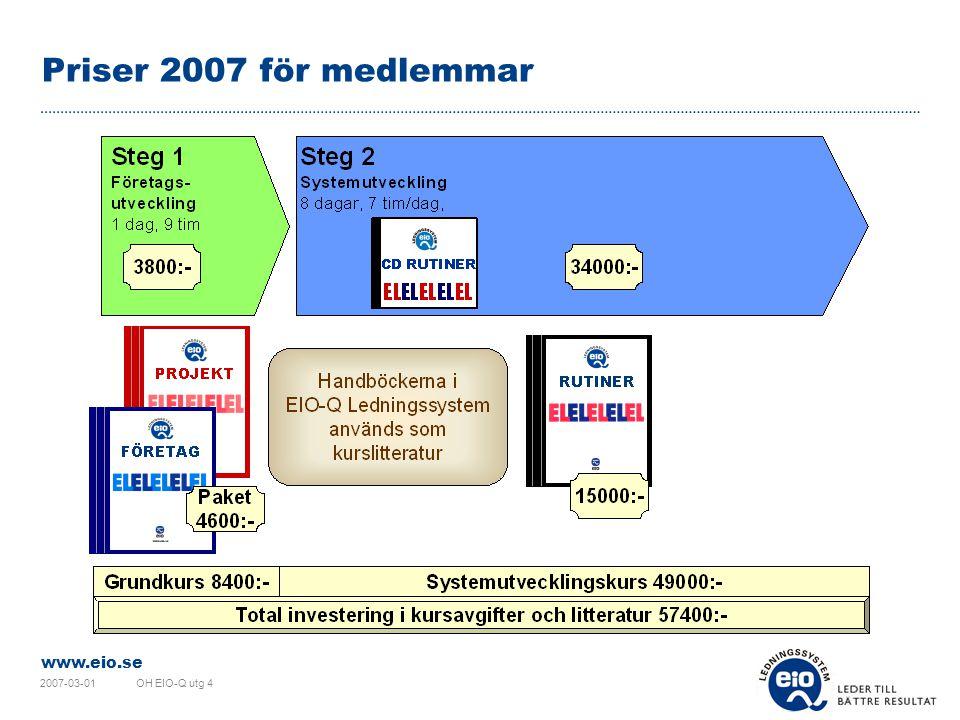 Priser 2007 för medlemmar 2007-03-01 OH EIO-Q utg 4