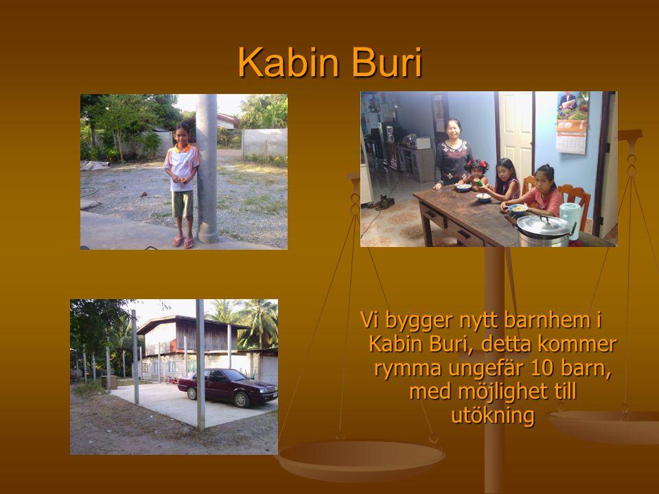 Kabin Buri Vi bygger nytt barnhem i Kabin Buri, detta kommer rymma ungefär 10 barn, med möjlighet till utökning.