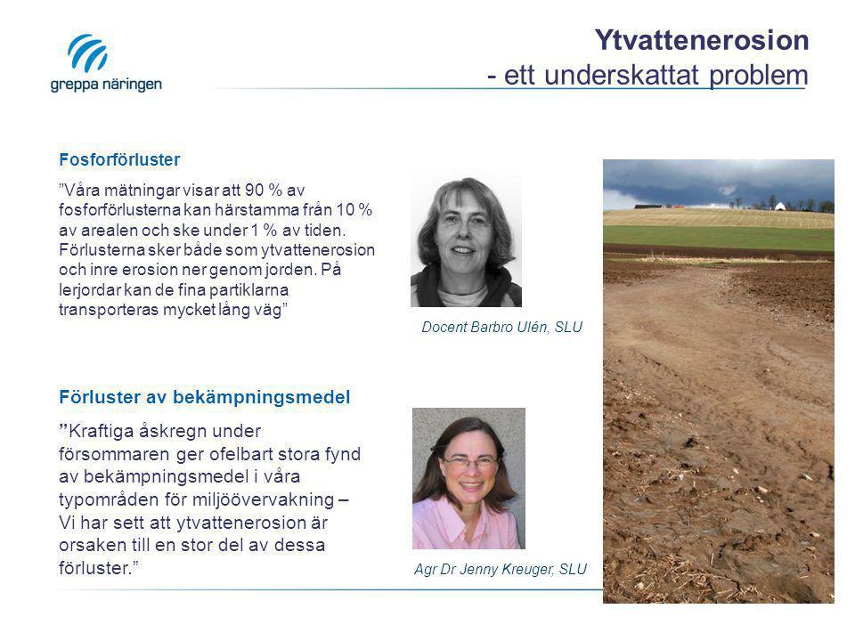 Ytvattenerosion - ett underskattat problem