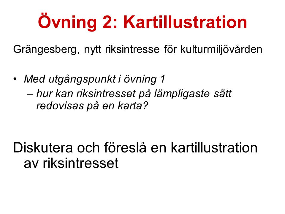 Övning 2: Kartillustration