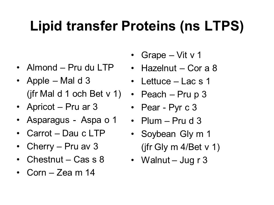 Lipid transfer Proteins (ns LTPS)