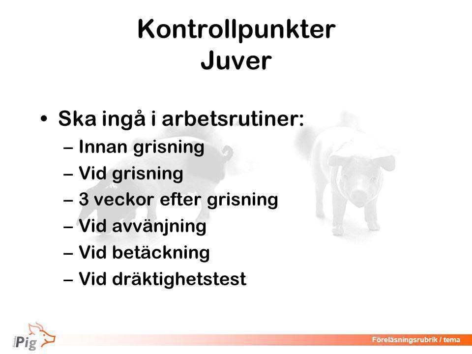 Kontrollpunkter Juver