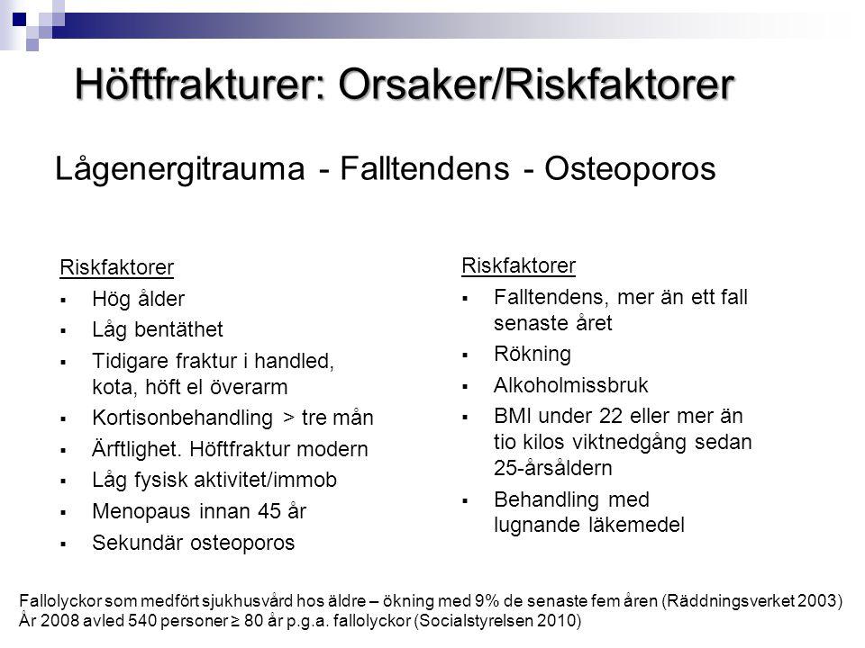 Lågenergitrauma - Falltendens - Osteoporos