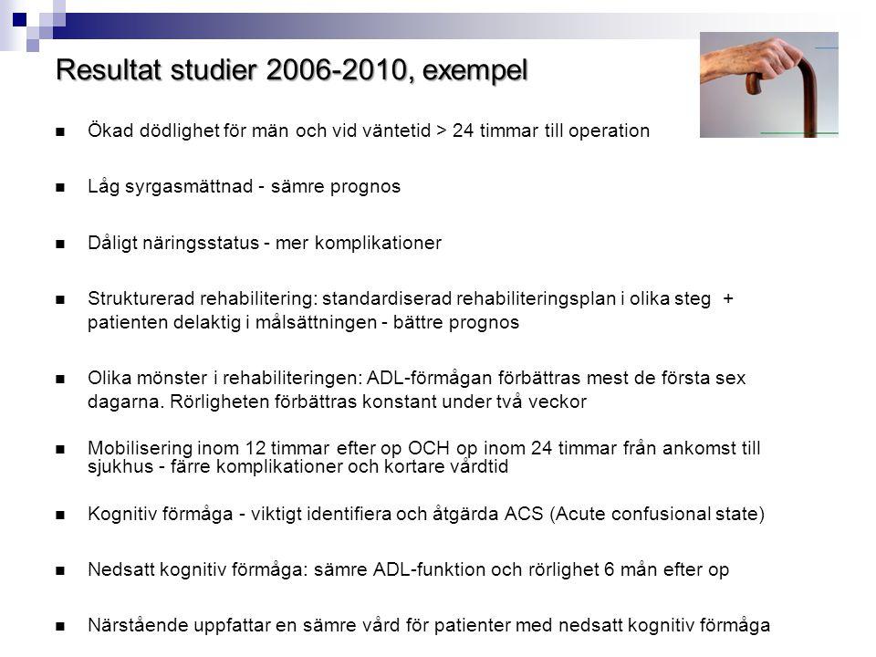 Resultat studier 2006-2010, exempel