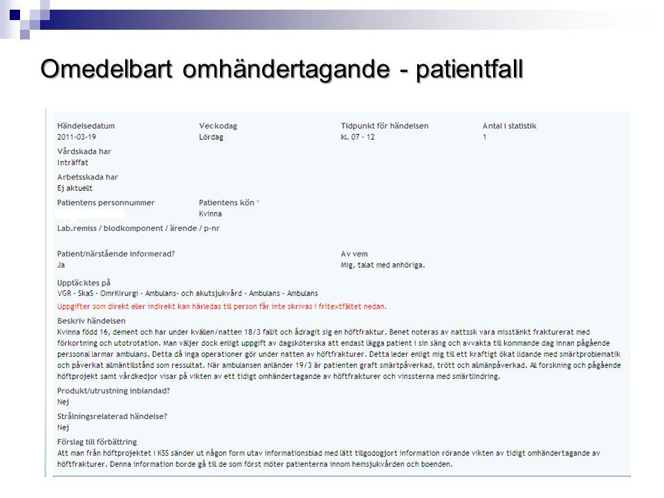 Omedelbart omhändertagande - patientfall