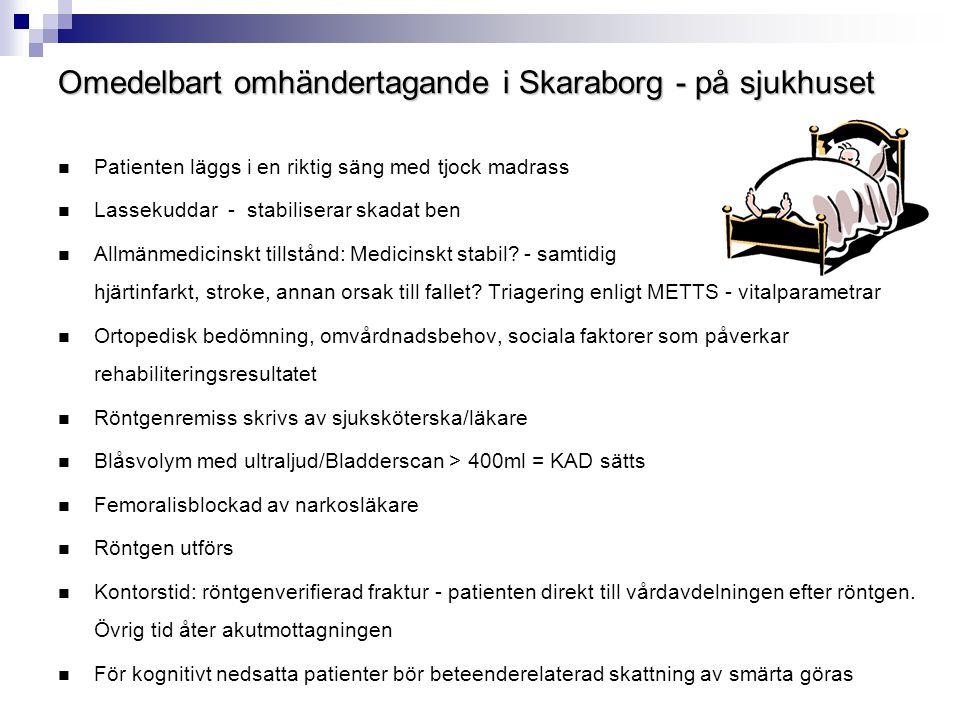 Omedelbart omhändertagande i Skaraborg - på sjukhuset