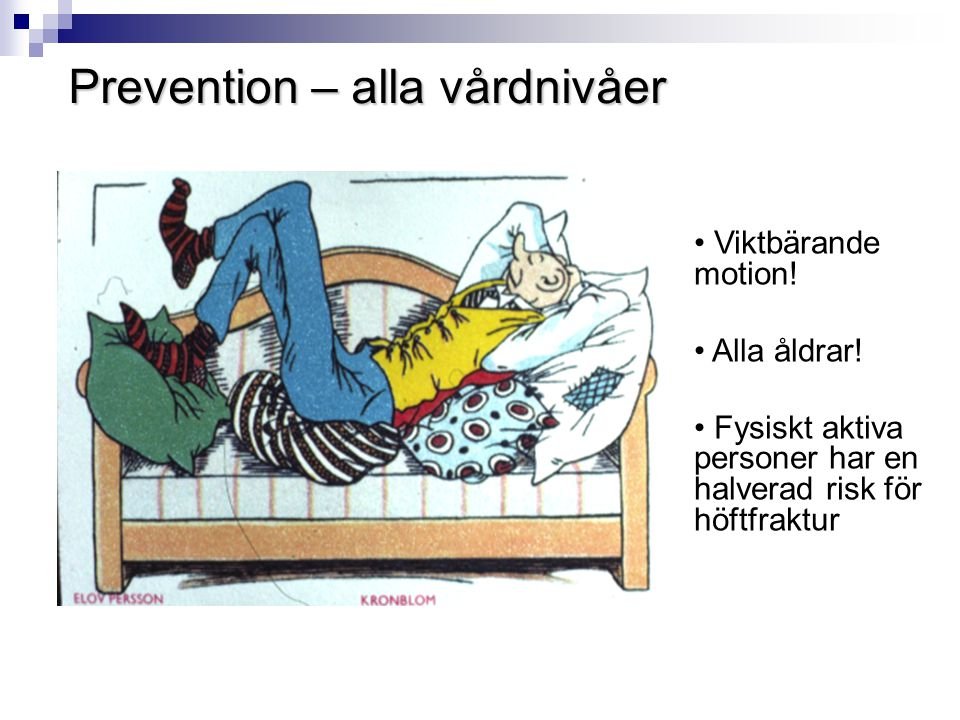 Prevention – alla vårdnivåer