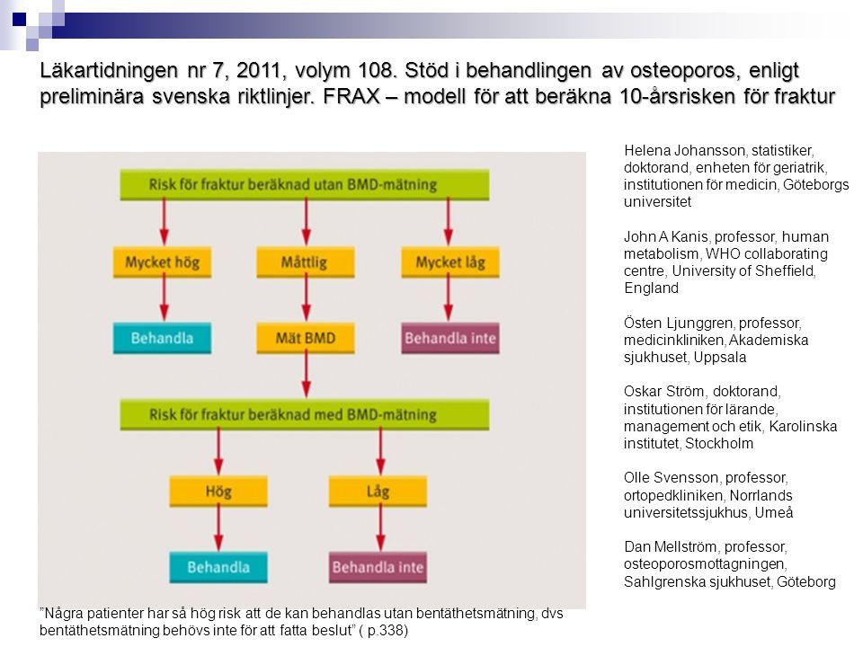 Läkartidningen nr 7, 2011, volym 108
