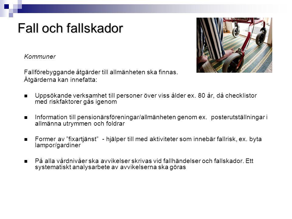 Fall och fallskador Kommuner