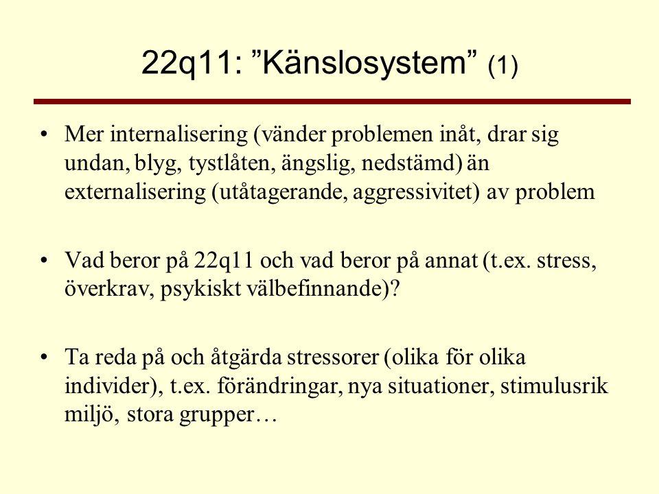 22q11: Känslosystem (1)