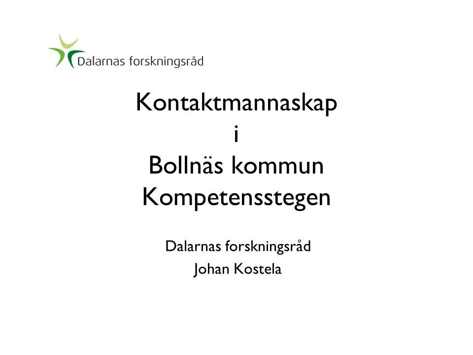 Kontaktmannaskap i Bollnäs kommun Kompetensstegen