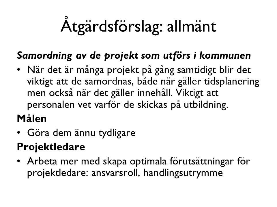 Åtgärdsförslag: allmänt