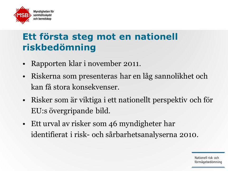 Ett första steg mot en nationell riskbedömning