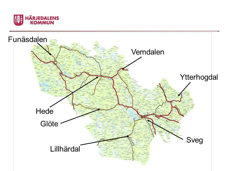 Funäsdalen Vemdalen Ytterhogdal Hede Glöte Sveg Lillhärdal