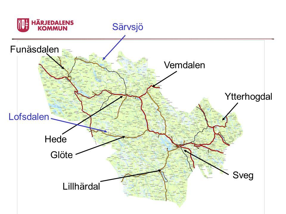 Särvsjö Funäsdalen Vemdalen Ytterhogdal Lofsdalen Hede Glöte Sveg Lillhärdal