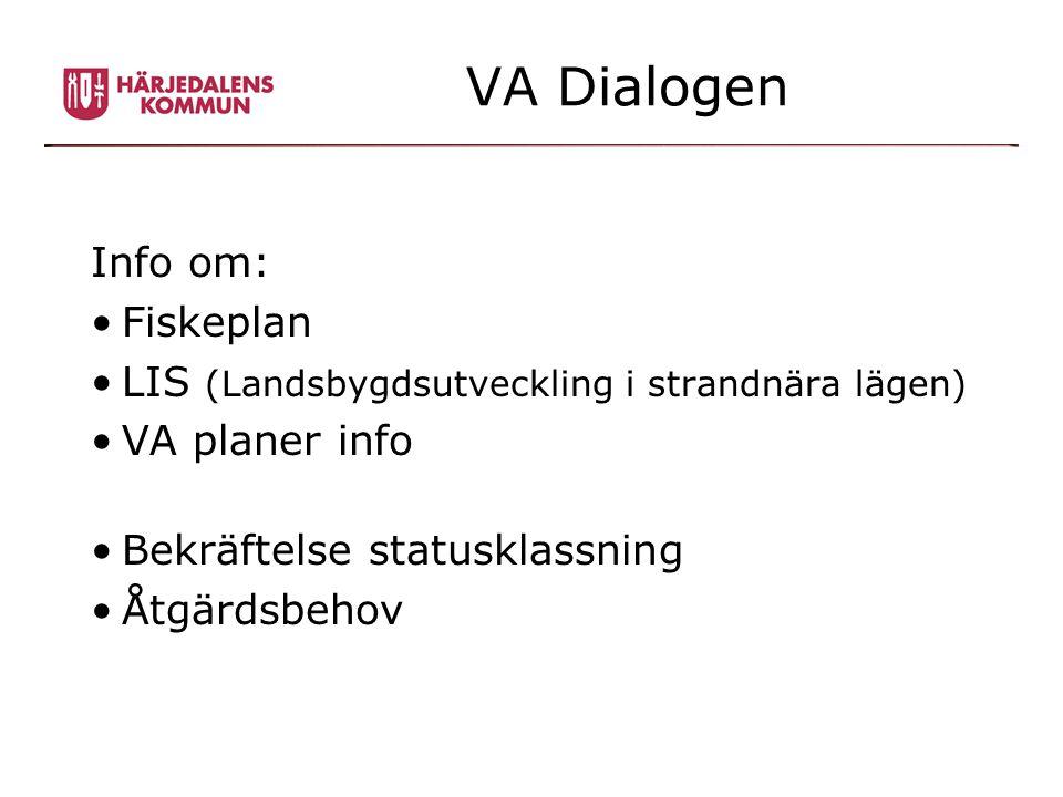 VA Dialogen Info om: Fiskeplan